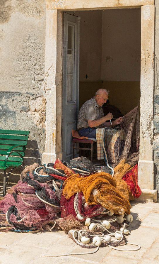 Fisherman at work in Croatia