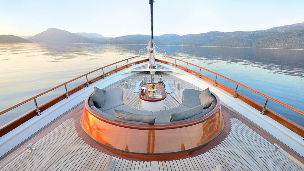 A private yacht charter is a safe way to spend your holiday.